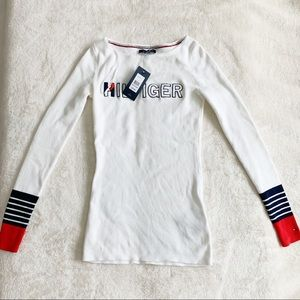 NWT Tommy Hilfiger White Sweater Knit Top Shirt